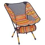 LIOOBO Tragbare Klapp Angeln Stuhl Camping Stuhl Sitz 600D Oxford Tuch Aluminium Angeln Stuhl für Picknick Im Freien BBQ Strand Stuhl (Orange)