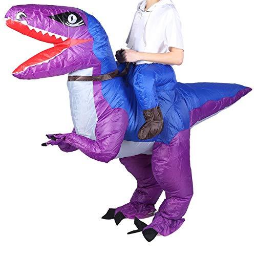 Faviu Disfraz Inflable, decoracin de Halloween, Ropa de Fiesta, Impermeable, Conveniente para actuaciones, centros comerciales, Fiestas de Baile(X115 Blue Purple)