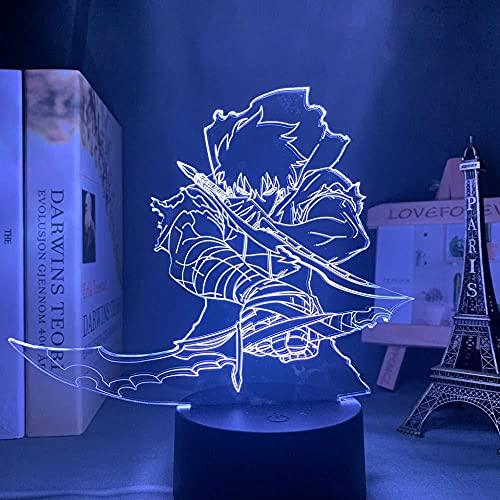Moda noche luz 3D anime LED luz solo nivelación para niños s habitación decoración noche luz niño bithday regalo manga solo nivelación dormitorio
