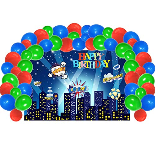 Lowest Price! UJGTAR Replacement for Pj Masks Birthday Party Supplies, Backdrop and Balloons Kit for...