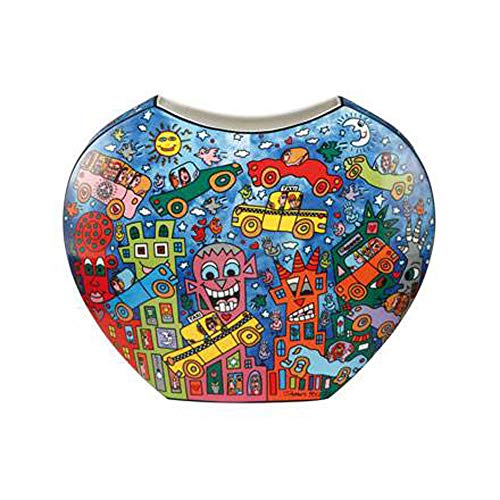 Goebel Not Getting Around The Traffic - Vase Pop Art James Rizzi Bunt Porzellan 26102281