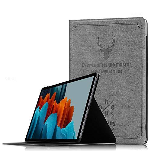 Mazu Homee Funda para tablet Samsung Tab S7 SM-T870/T875, funda de piel de 11 pulgadas dormancy protección anticaídas, color azul, gris plateado