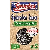 SPONTEX - Spirale Inox Acier Recyclé - 2 spirales inox désincrustantes -...