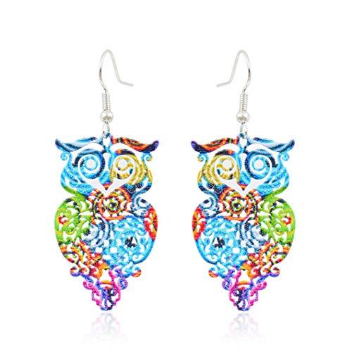 Pendientes huecos con estampado en color exquisitos grandes escamas colgantes pendientes pendientes de joyería accesorios regalo para mujeres, estilo 3