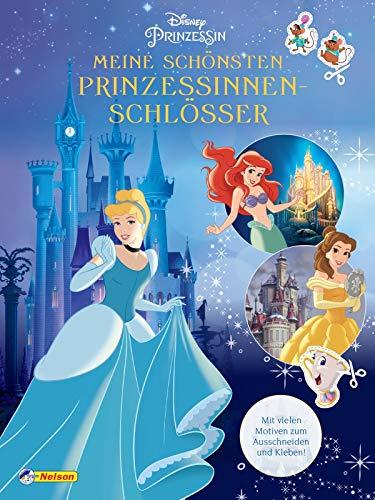 Disney Prinzessin: Meine schönsten Prinzessinnen-Schlösser - Bastelspaß und Ausmalbilder!: Mit vielen Motiven zum Ausschneiden und Kleben!