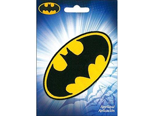Simplicity Batman Logo Hierro en Applique, poliéster, Multicolor, 10.24X 0,2x 14.02cm