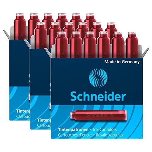 SCHNEIDER Lot de 3 Boîtes 6 Cartouches d'encre rouge