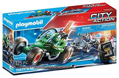 Playmobil- Kart della Polizia E Fuggitivo Set di Figurine, Multicolore, 70577