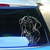 cartattoo4you AK-00388 | BORDEAUX DOGGE Kopf | Autoaufkleber Aufkleber FARBE weiß , in 23 weiteren Farben erhältlich, glänzend , 24 x 31 cm , Waschstrassenfest , Versandkostenfrei