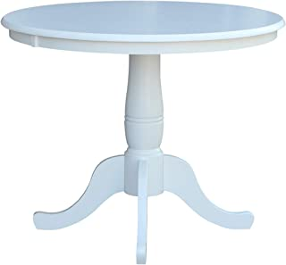 """Whitewood Industries International Concepts 36"""" Round Top Pedestal Table, White"""