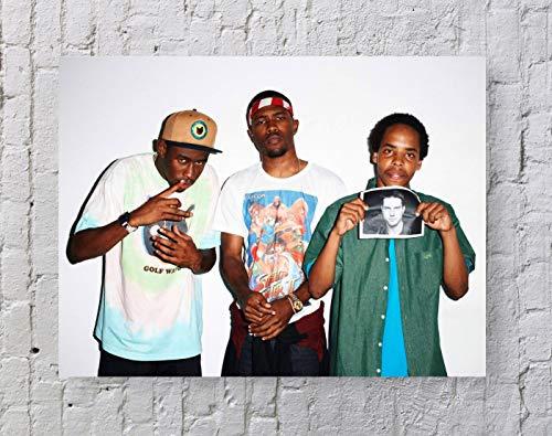 LLp Earl Sweatshirt Frank Ocean Poster Standard Size | 18-Inches by 24-Inches | Earl Sweatshirt Frank Ocean Rap Music Wall Poster Print