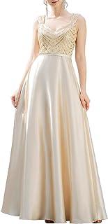Ever-Pretty Vestido de Fiesta Elegant Corte Imperio Largo Sin Mangas Escote en V Lentejuelas Mujer 00653