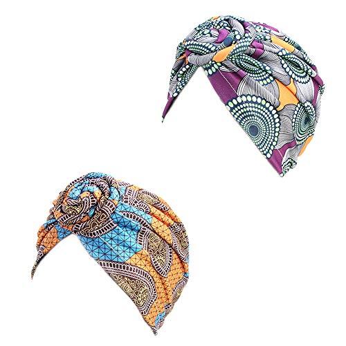 Kopfbedeckung, Kopfbedeckung, vorgebunden, Chemo-Kappe, Haarausfall, 4 Packungen / 3 Packungen / 2 Packungen -  -  Einheitsgröße