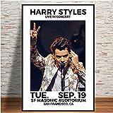 Flduod Harry Styles World Tour Affiche Histoire Couverture en Direct Toile Peinture Affiches et Impressions Mur Art Photo pour Salon décor à la Maison