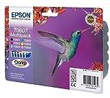 Encre d'origine EPSON Multipack Colibri T0807 : cartouches Noir, Cyan, Magenta, Jaune, Cyan clair,...