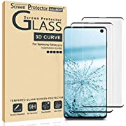 (2 Pack) Galaxy S10 Screen Protector 3D Curved Glass, [Case Friendly] [Bubble Free] Ultra Thin HD Clear 9H Hardness Anti-Scratch Crystal Clear Screen Protector for Galaxy S10 (NOT S10PLUS)