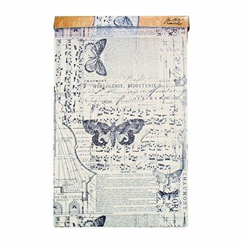 Tim Holtz Idea-ology Melange Tissue Wrap, Decorative Craft Paper, 1- 12 Inch Wide Roll, 15 Feet per Roll, TH93042