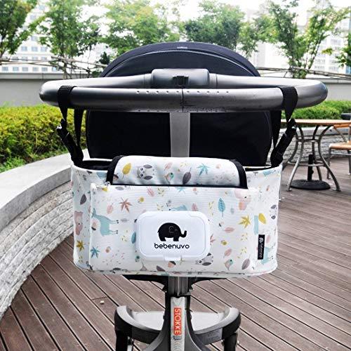 Bolsos Carro Bebé Universal Gran Capacidad Bolsas Organizador Carro Silla Paseo (Pájaro) ⭐