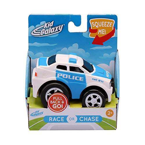 Kid Galaxy Soft and Squeezable Pull Back Police Car
