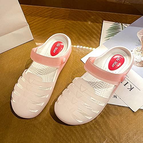 WUHUI Zapatos de Playa y Piscina para Niños, Zapatos de Playa y Piscina Hombre, Pantuflas Gruesas y Suaves para Mujer, -1 Pink_37