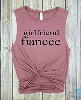 Girlfriend Fiancee Tank, Future Mrs, I Said Yes, Engagement Tank, Engagement Gift, Fiance Shirt, Bachelorette Party Shirt, Future Mrs, Bride Tshirt, Wifey Tank, Just Married Shirts, Gift for Wife