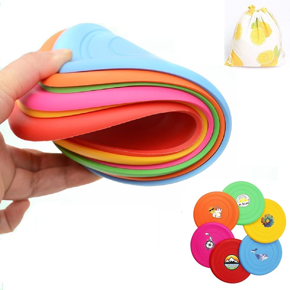 Oakland Mall AIWENXIE Kids Flying Disc Toy Soft Challenge the lowest price Silicone Pla Pack Outdoor 6