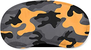 Dark Camouflage Orange - Sleeping Mask - Sleeping Mask