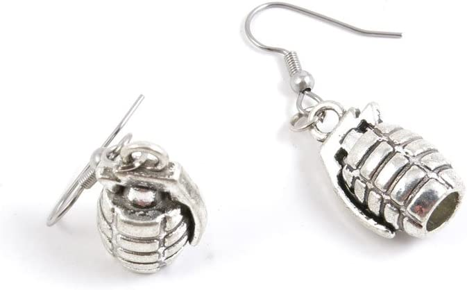 All items free shipping 50 Pairs Super special price Hand Grenade Ear Hooks Supply Making Ch Jewelry Earring
