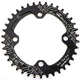 CYSKY 38T Schmale Breite Kettenblatt 104 BCD Einzelkettenblatt mit 9 10 11 Geschwindigkeit für Rennrad Mountainbike BMX MTB (38T)