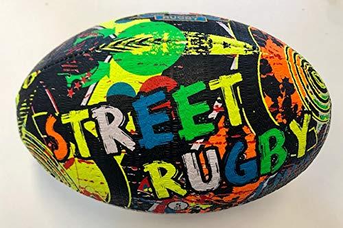 Mikado Rugbyball Italia Modell Street 1, Mehrfarbig, Größe Normale