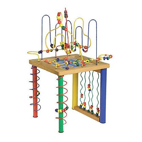 small foot 4690 Motorikschleife Spieltisch, aus Holz, kindgerechte Größe für stundenlangen Spielspaß, ab 3 Jahren Spielzeug