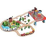 Dirgee 88 PCS Conjunto de Tren de Madera for niños pequeños, Tren de Madera de Lujo, Juegos de niños...