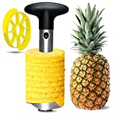 Pineapple Corer and Slicer, [Upgraded, Reinforced, Thicker Blade] 304 Stainless Steel Professional Pineapple Cutter/Peeler with Wedger, Easy Kitchen Tool