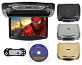 "Best Pyle Flip Down Dvd Players - Rockville RVD14BGB Black/Grey/Tan 14"" Flip Down Car Monitor Review"