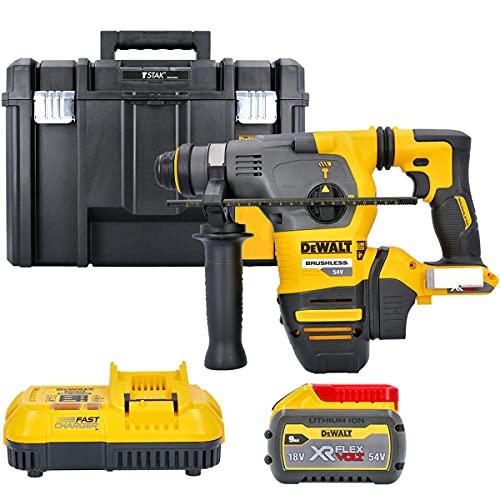 Dewalt DCH333 54v Flexvolt SDS+ Hammer Drill + 1 x 9Ah Battery, Charger & Case