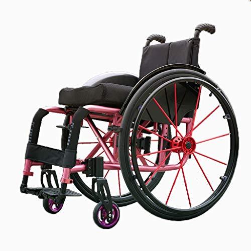LTN Ltd - Wheelchair Sportrollstuhl, Klappbarer Rollstuhl mit Eigenantrieb, Transportrollstuhl mit Kippschutz, Behindertengerechter Rollstuhl mit Handbremse, die Beste Wahl für Geschenke, b, b