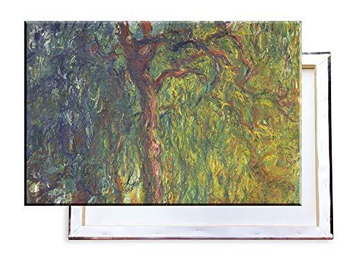 Unified Distribution Claude Monet - Trauerweide - Klassisches Gemälde - Replik auf Leinwand 100x70 cm