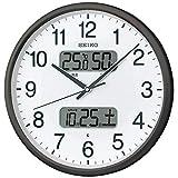 セイコークロック 掛け時計 03:黒 01:直径35cm 電波 アナログ カレンダー温度 湿度 表示 BC405K