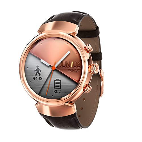 Asus 90NZ0066-M00730 ZenWatch 3 (512MB, 4GB Speicher, Android, 3,53 cm (1,39 Zoll)) Rosegold