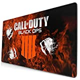 C-All of D-uty Modern W-arf-are Mouse Pads Gaming Large Gaming Mouse Pad Mat, Non-Slip Waterproof Rectangle with Stitched Edges for Office Home 29.5' x 15.7' x 0.12'