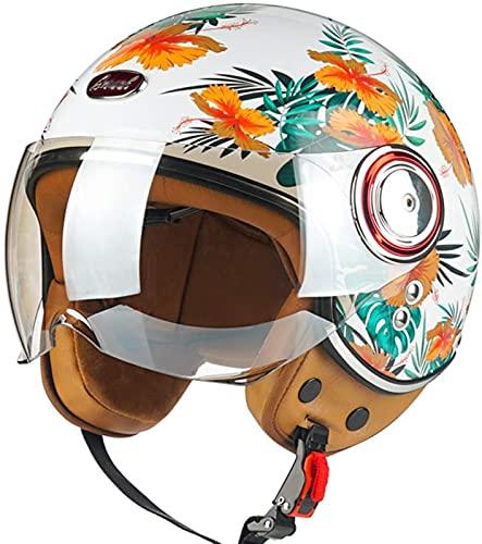 Cascos De Moto Para Adultos Con Visera, Certificado ECE, Casco De Casco Abierto, Casco Jet Vintage, Para Cruceros Y Scooters De Turismo F,M