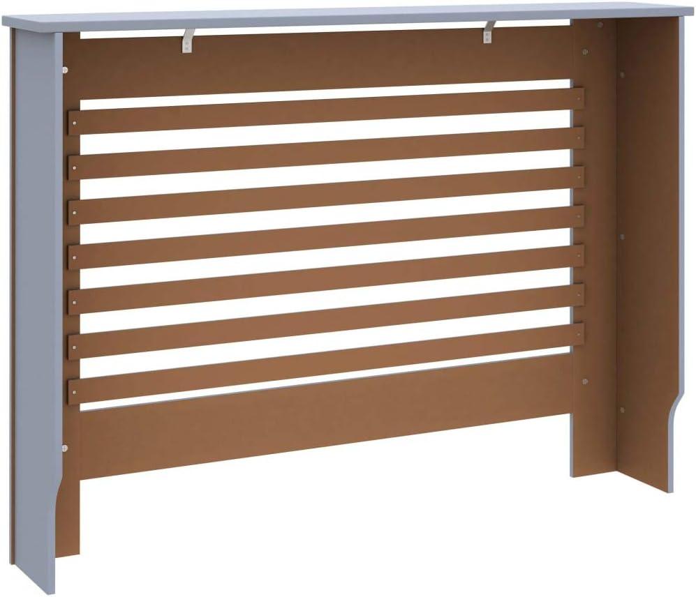 pedkit Cache-radiateur Armoire de Cache-radiateur Radiateur Couverture Anthracite 112x19x81 cm MDF