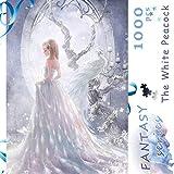 Ingooood- Jigsaw Puzzle 1000 Piezas para Adultos- Serie Fantasy- The White Peacock_IG-0368 Entretenimiento Rompecabezas de Madera Juguetes