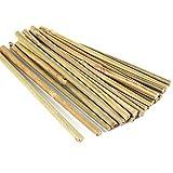 Pllieay Estacas de bambú Gruesas Naturales Estacas de jardín Bastones de bambú para Soportes de...