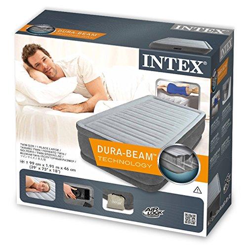 Intex Matratze Comfort Plus Einzelbett mit Pumpe 220-240 Volt inklusive Intex 64412