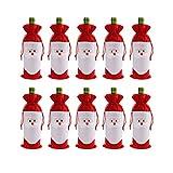 Cusfull Weinflaschenhülle mit Kordelzug, Weihnachtsmann, Weihnachtsmann, Rot Rot-Weiß