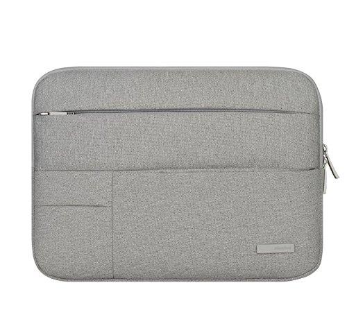 jlyifan Denim Busniess mit Sleeve Tasche zwei Innentaschen; Schutzhülle für HP Spectre x212/Elite X2(1012)/HP Pavilion X212,1/HP Pro Slate 12/Sony Z4Tablet Pro 12(grau)
