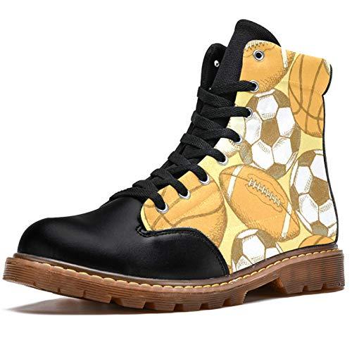 LORVIES - Botas de fútbol americano de fútbol y baloncesto, botas de invierno, botas altas de lona con cordones para hombre, (multicolor), 41 EU