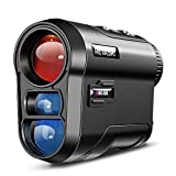 REVASRI Laser Rangefinder for Hunting & Golfing,Target Shooting Archery, 600 Yards Golf Rangefinder with Slope Compensation, Distance Angle Height Speed and Continuous Measuring Range Finder