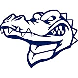 USC DECALS Mean Crocodile Heads (Navy Blue) (Set of 2) Premium Waterproof Vinyl Decal Stickers for Laptop Phone Accessory Helmet Car Window Bumper Mug Tuber Cup Door Wall Decoration